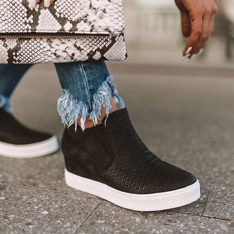 Belleyone Daily Comfy Wedge Heel Sneakers
