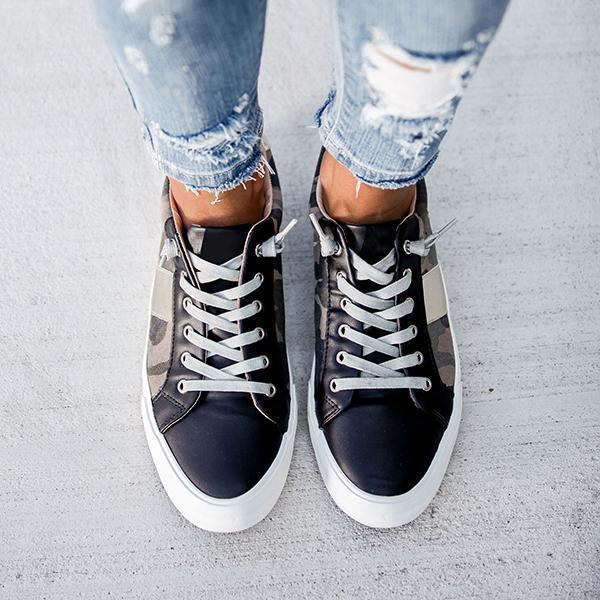 Belleyone Summit Faux Leather Camo Sneakers