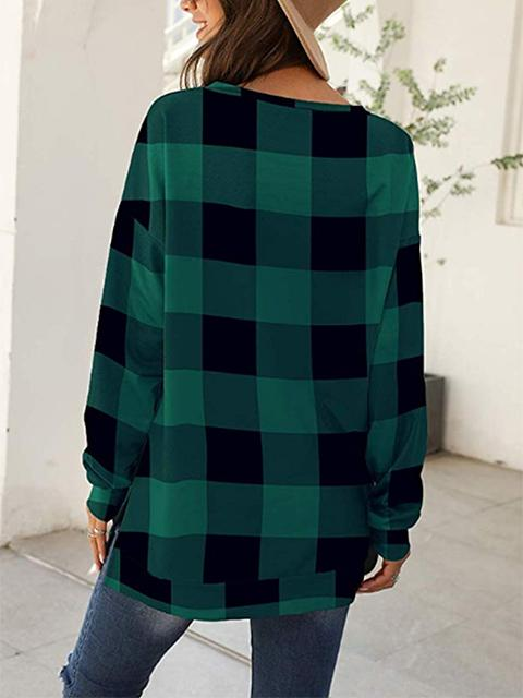 long-sleeve-plaid-print-causal-tops