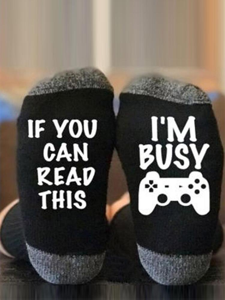 Busy Playing Game Socks