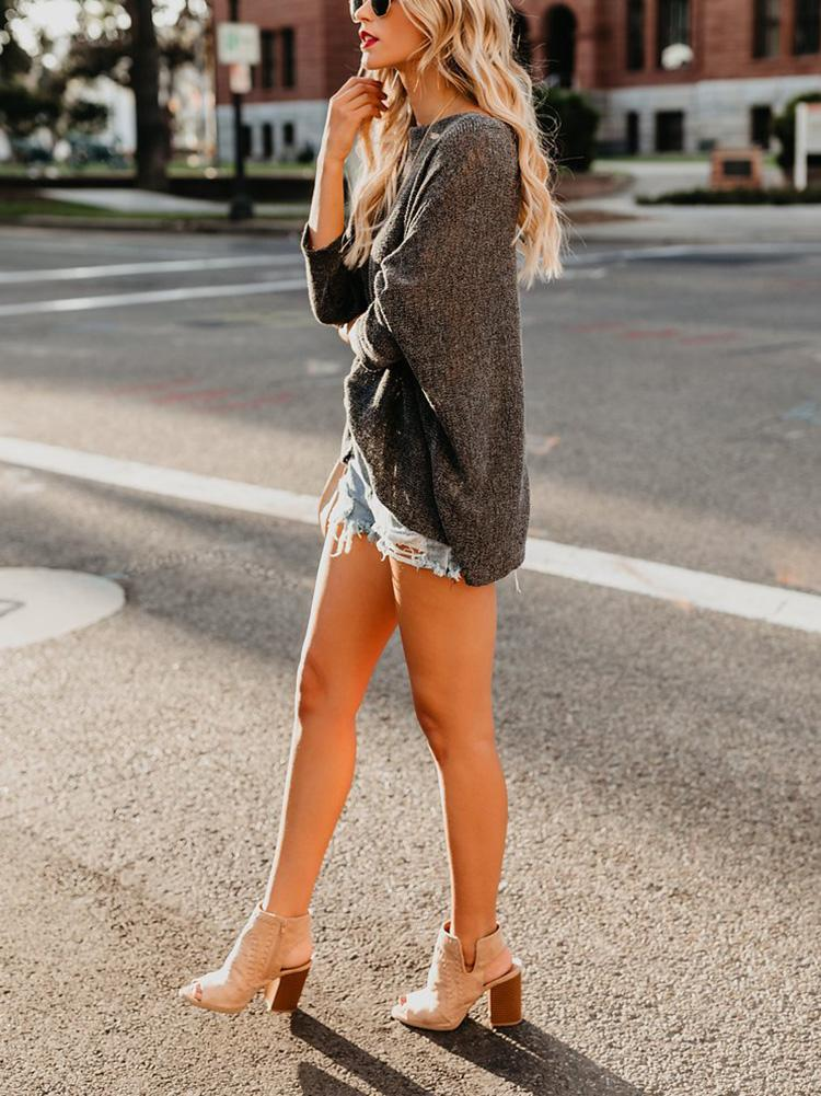 Off-The-Shoulder Thin Sweater