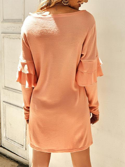 ruffled-long-sleeved-soft-knit-dress-syd2291