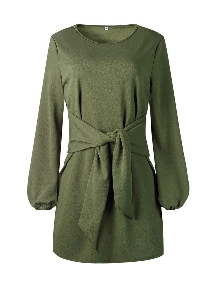 Casual Tie Knot Front Dress