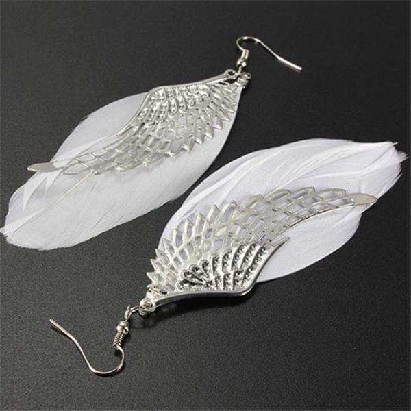 Angel Wings Feather Earrings