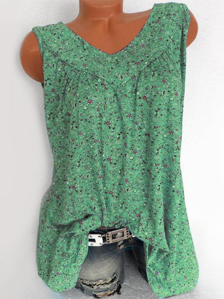 print-floral-sleeveless-v-neck-blouse-zsy6065