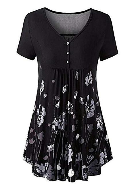 printed-front-pleated-v-neck-top-zsy9328