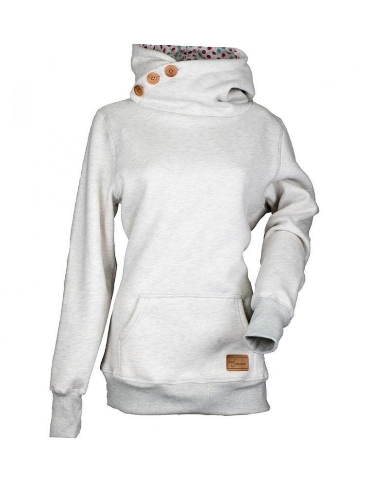 Solid Color Stitching Pocket Hooded Sweatshirt