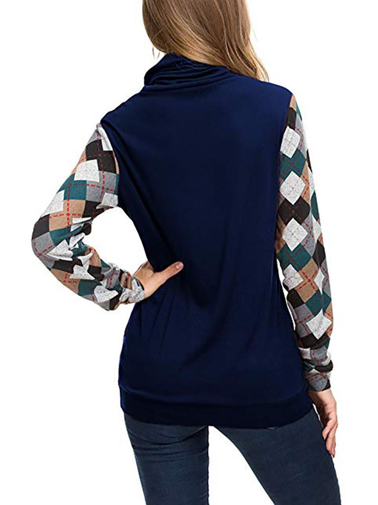 Color Block Printed Pocket Sweatshirt