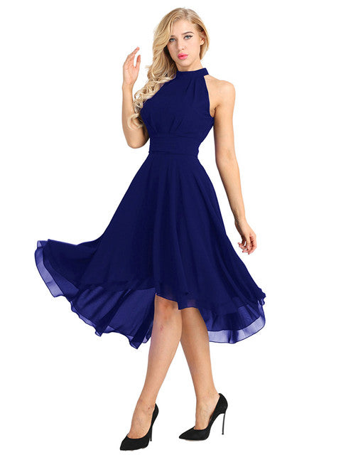 Chiffon High Low Layered Party Dress