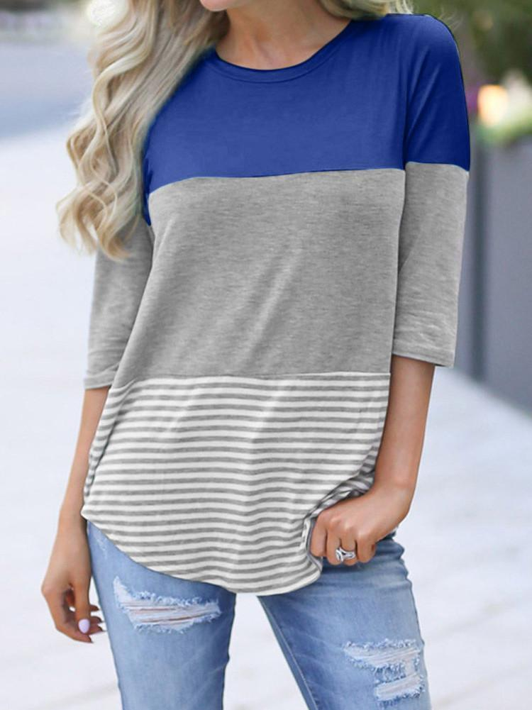color-block-short-sleeve-casual-t-shirt