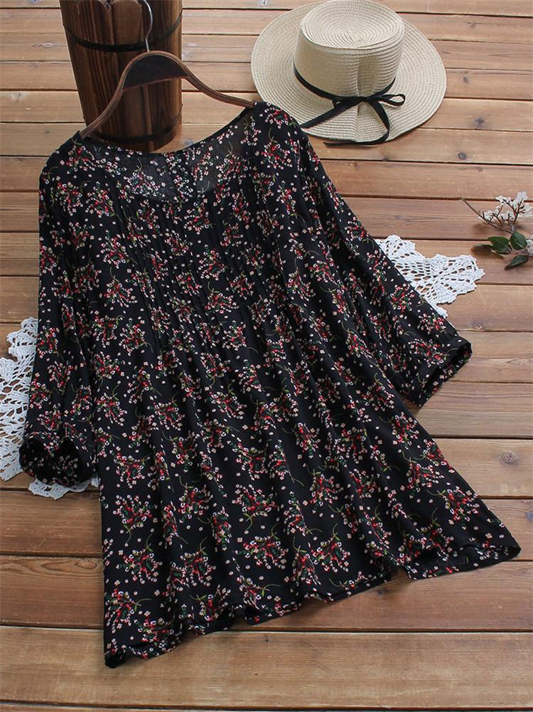 floral-loose-top-shirt-vintage-blouse