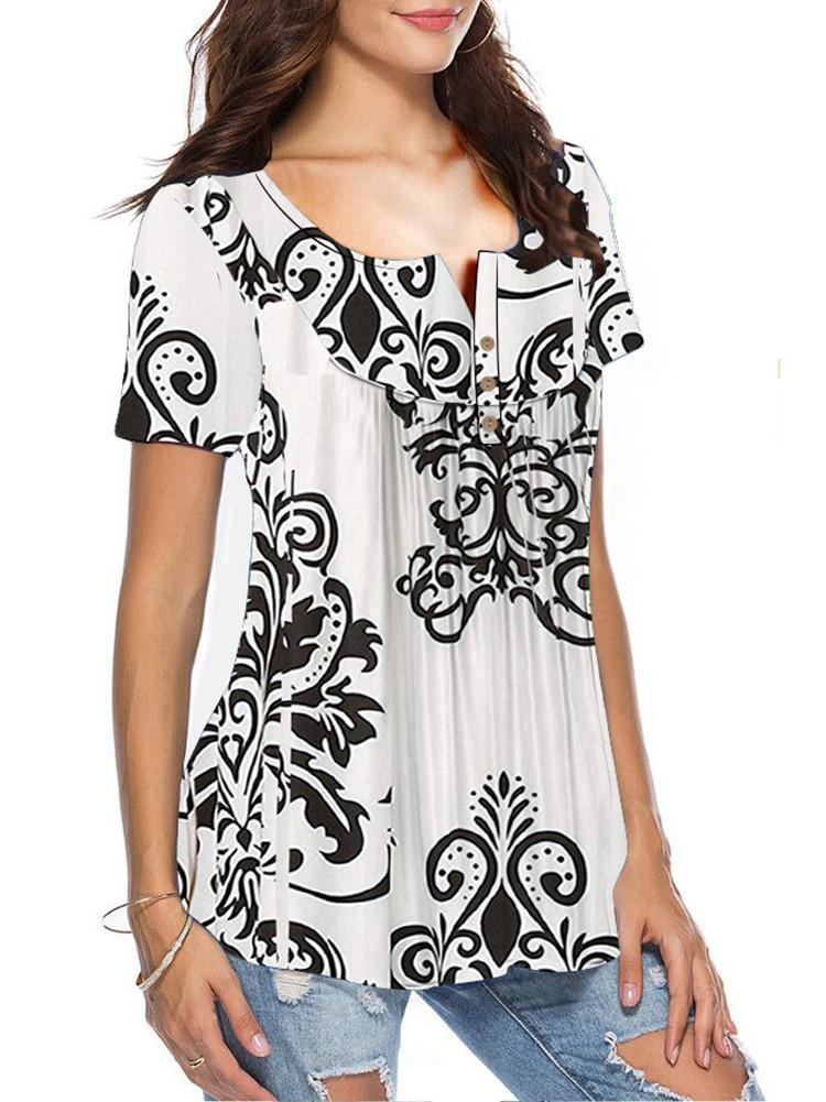 floral-print-loose-fit-tunic-tops
