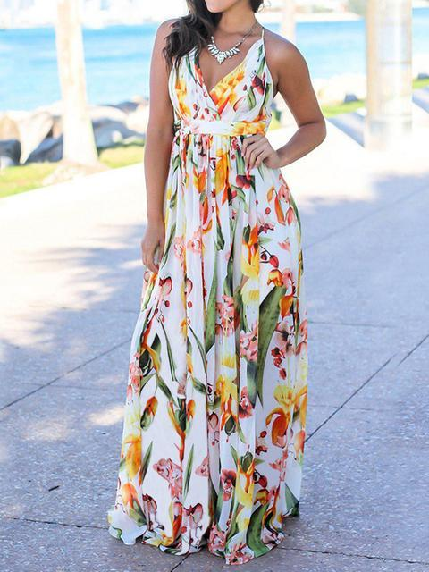 floral-print-spaghetti-strap-summer-dress