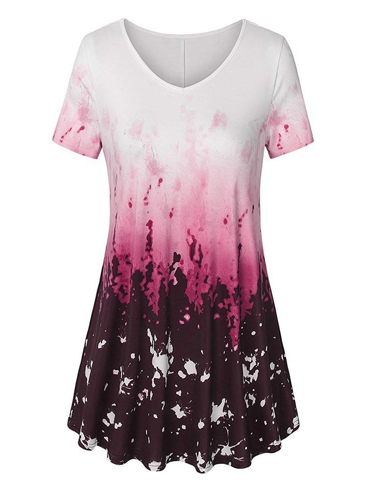 short-sleeve-curved-hem-printed-tunic