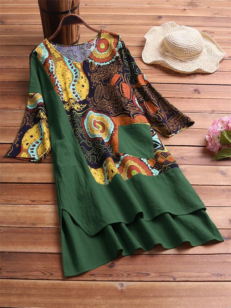 vintage-patchwork-print-plus-size-dress