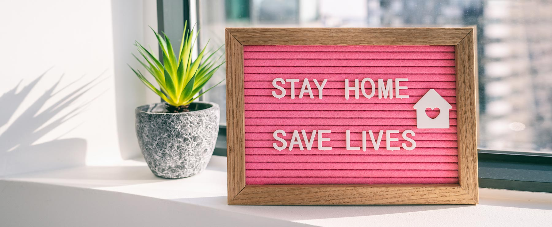 Stay home, stay lives sign | Social distancing | Cannabidiol