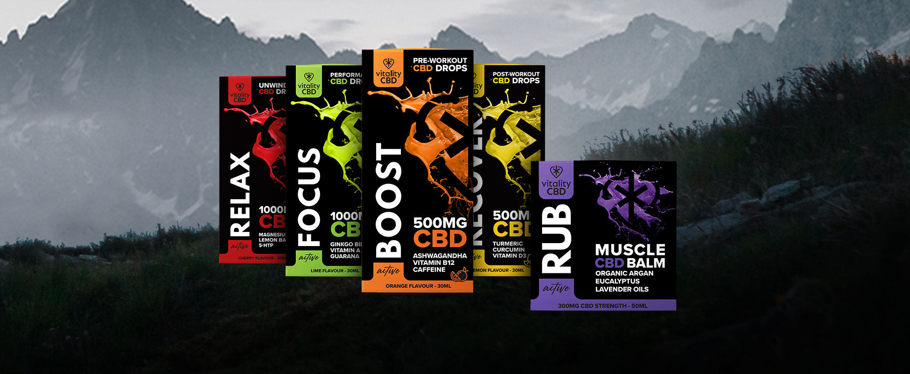Full Active CBD range