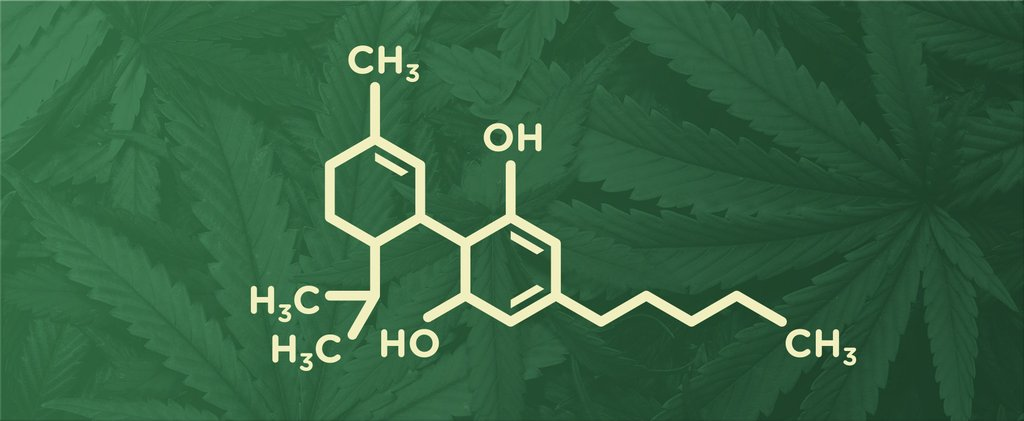Chemical structure of a cannabinoid