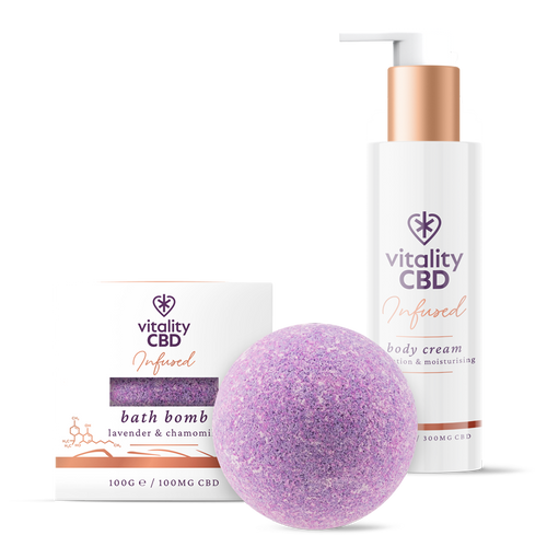 CBD Bath Bomb and Body Cream Kit