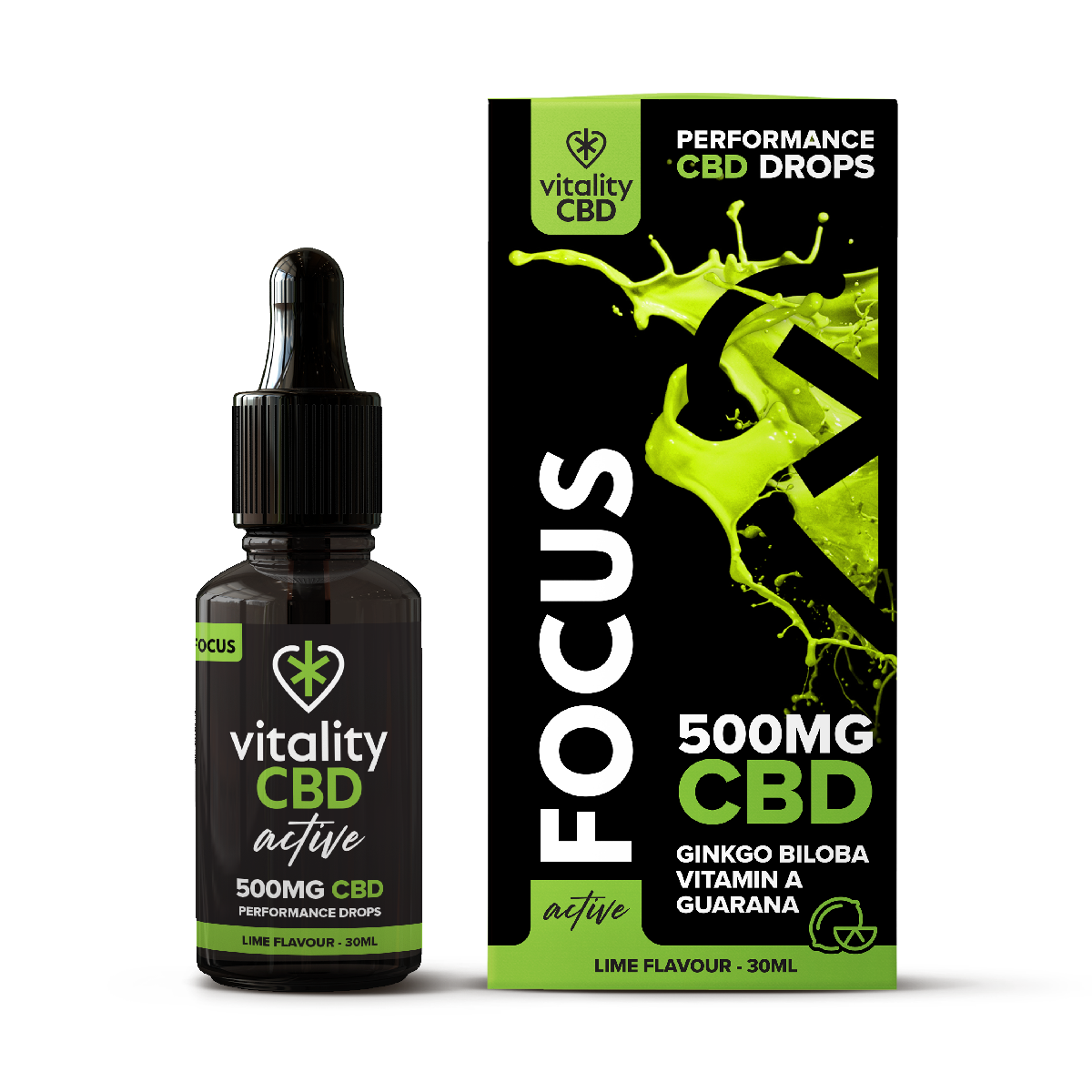 Vitality CBD Active: Focus Drops 30ml