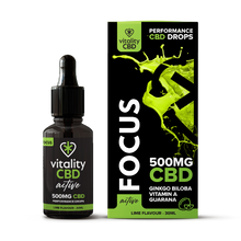 Load image into Gallery viewer, Vitality CBD Active: Focus Drops 30ml