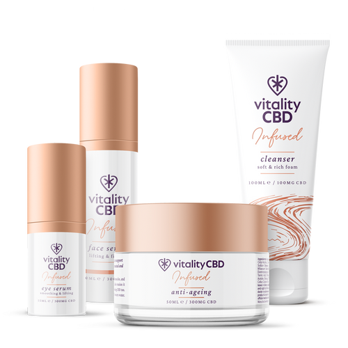 CBD Cosmetics Kit - Eye Serum, Anti-ageing, Cleanser