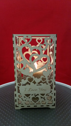 I Love You - Linked Hearts Candle HOlder