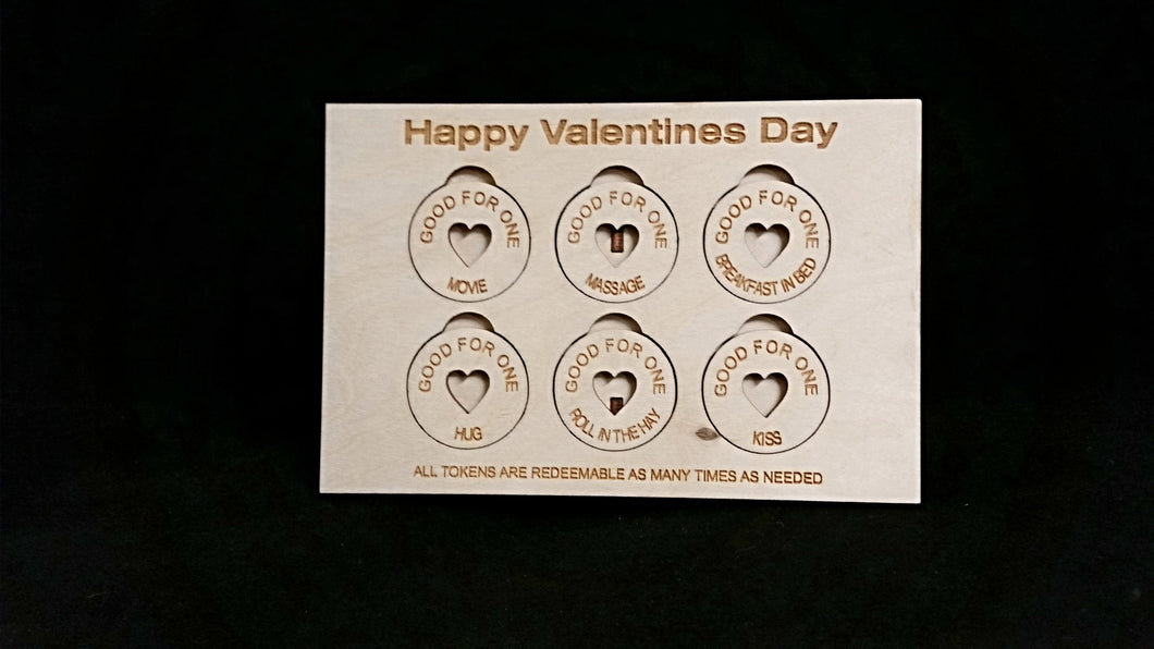 Valentines Sweet Heart Tokens