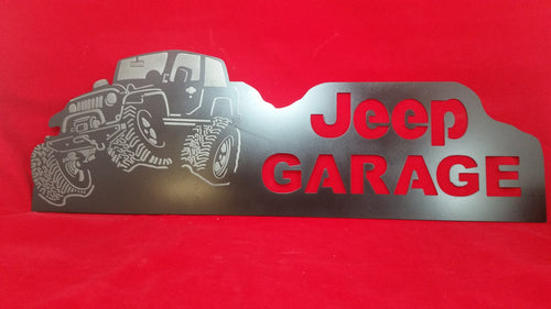 Jeep Garage Sign