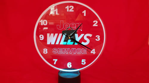 Jeep Willy Service Clock