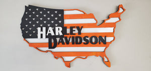 Harley American Flag Sign