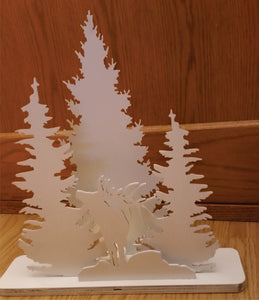 Majestic Elk Scenery Display