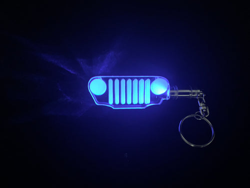 Jeep Grill LED Keychain