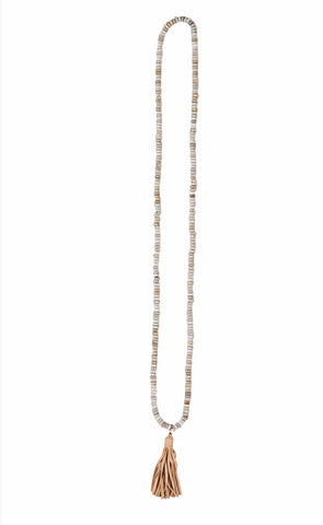 Sable Tassel Necklace ~ Sand
