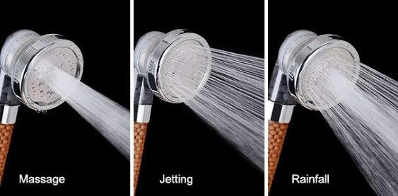 3 Mode High Pressure Shower Head