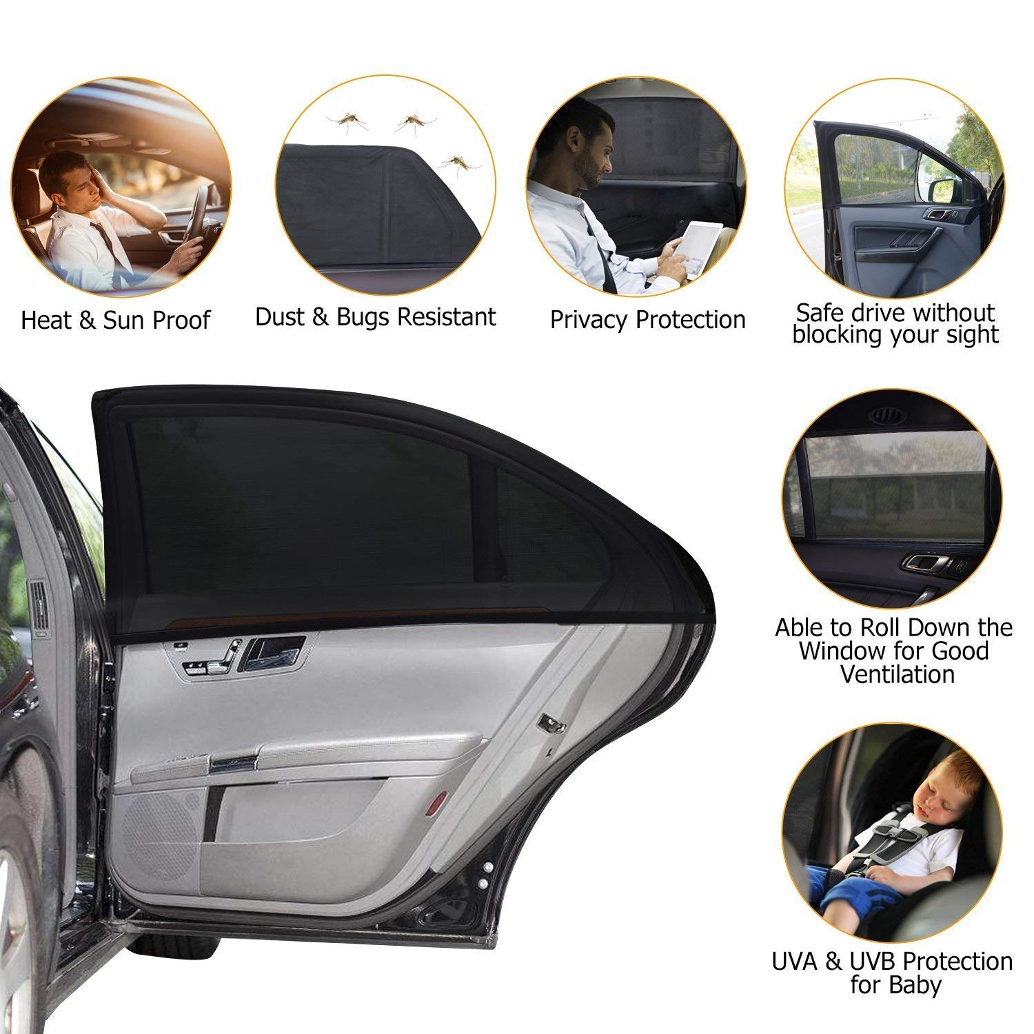 Rear Car window Sunshade