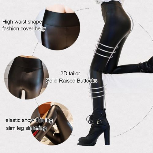 Sexy High waist faux leather leggings