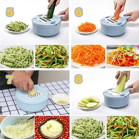 9-in-1 Multi-Function Easy Food Chopper - Awesales