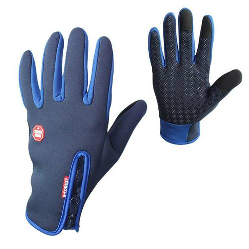 Premium Thermal Gloves for Outdoor Activities - Navy Blue / L - Awesales
