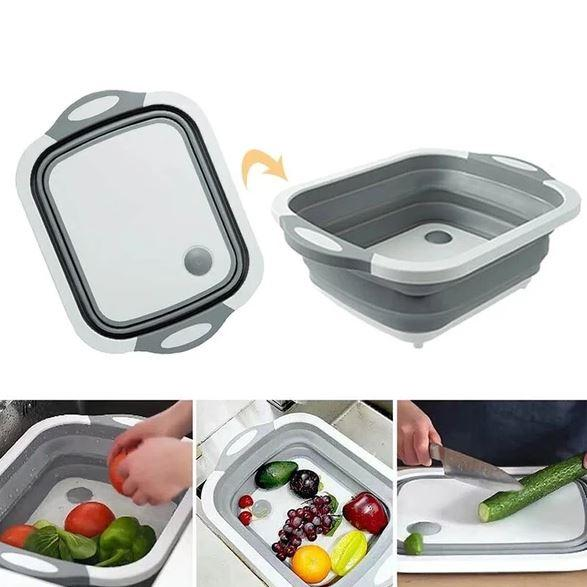 SMARTBOARD- Foldable Multi-Function Chopping Board - Gray - Awesales