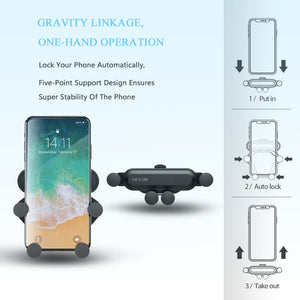 Universal Auto-Grip Car Phone Mount - - Awesales