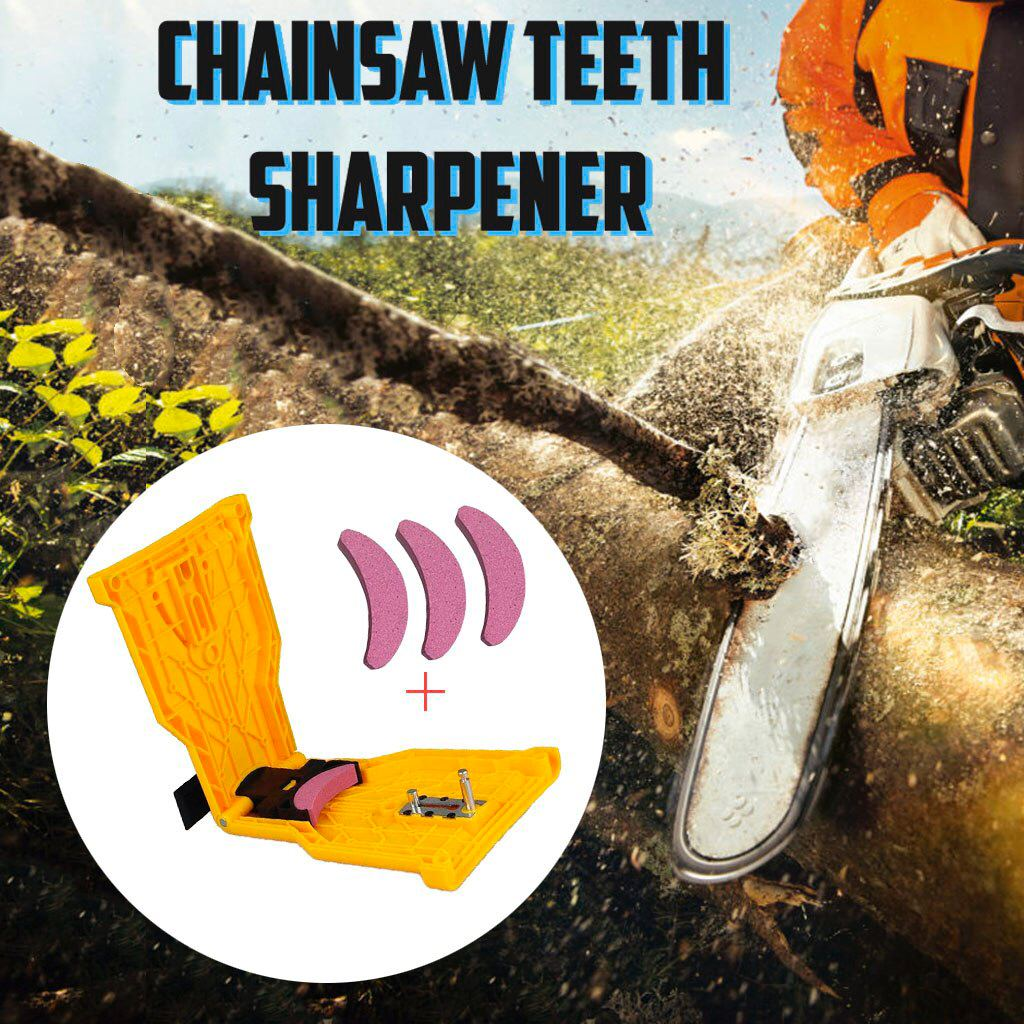 Chainsaw Teeth Sharpener - 1 PC + 3 STONES - Awesales