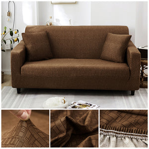 Premium Sofa Cover - 1 Seater : 90-140cm / LIGHT BROWN - Awesales