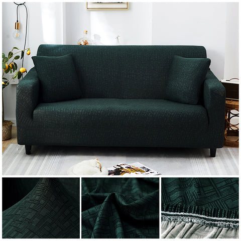 Premium Sofa Cover - 1 Seater : 90-140cm / DARK GREEN - Awesales