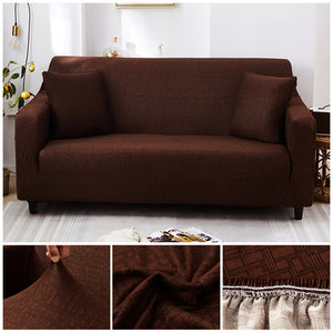 Premium Sofa Cover - 1 Seater : 90-140cm / BROWN - Awesales