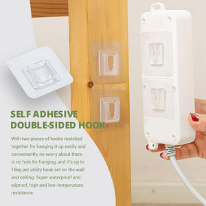 Double-sided Adhesive Wall Hooks - Awesales