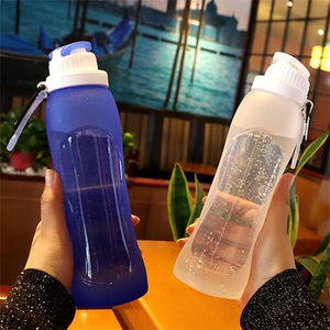 Silicone Water Bottle - Blue - Awesales