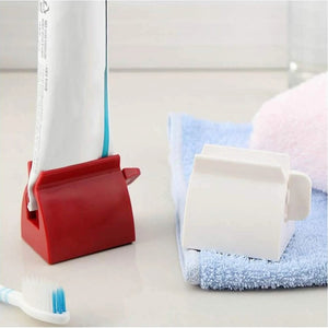 Rolling Tube Toothpaste Squeezer - 2 PCS ( RED + WHITE ) ( 40% OFF ) - Awesales