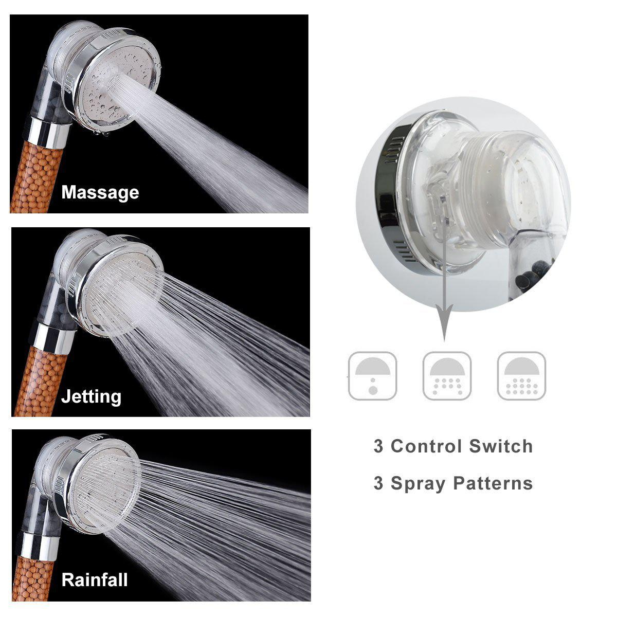 The Misugi - 3 Mode High Pressure Shower Bath Head (US standard size hose) - Awesales