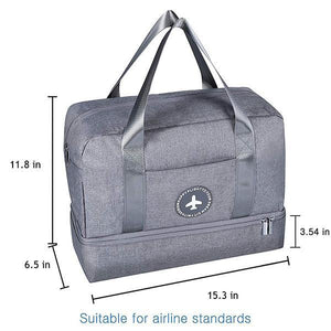 Dry-wet Separated Gym Bag - - Awesales